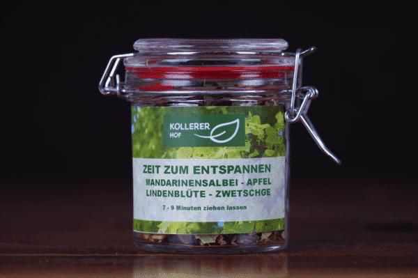 Kollerer's Zeit zum Entspannen Tee im Glas Kollerer Hof